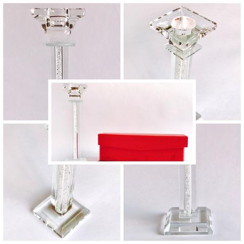 10 portavelas cristal adorno para mesa o mueble envío gratis
