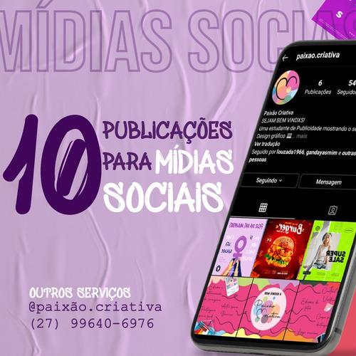 10 postagens para mídias sociais