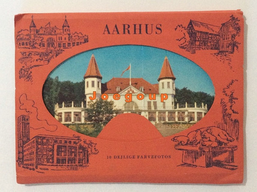 10 postales vistas varias ciudad de aarhus dinamarca europa