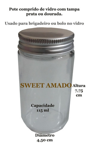 10 pote comprido vidro tampa preta prata dourada 100ml