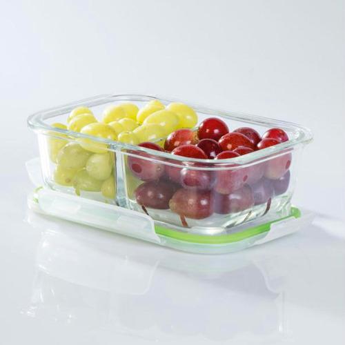 10 potes de vidro organizador cozinha para alimentos marmita