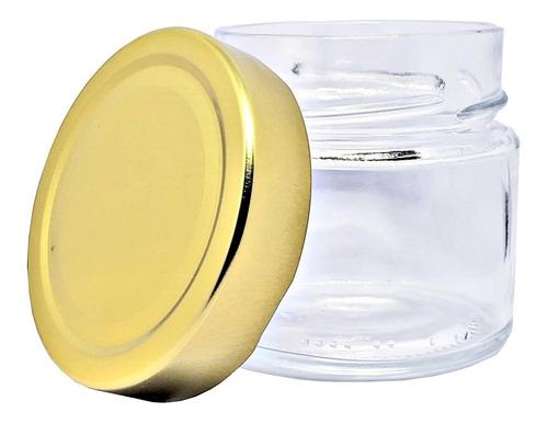 10 potes vidro tampa alta dourada 150 até 210ml sweet amado