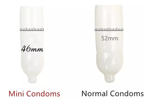 10 preservativos - talla pequeña - small granulado - 45 mm.