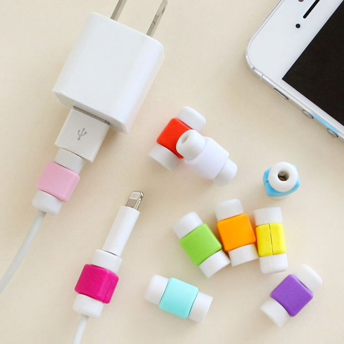 10 protector cable d datos celular iphone ipad apple android