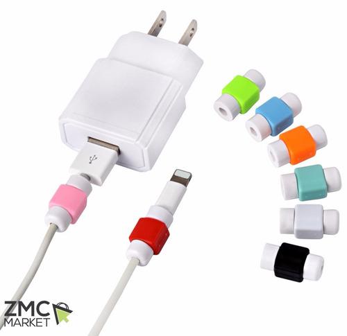 10 protectores de cable para iphone ipod ipad microusb usb