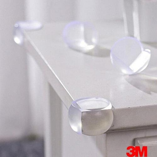 10 protetores de quina canto cantoneira silicone mesa bebê