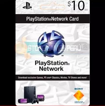 $10 psn play station network card para store usa oferta!!!!