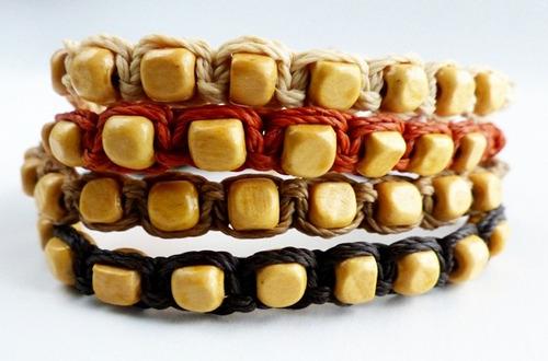10 pulseras ajustables macramé hilo encerado revendedores
