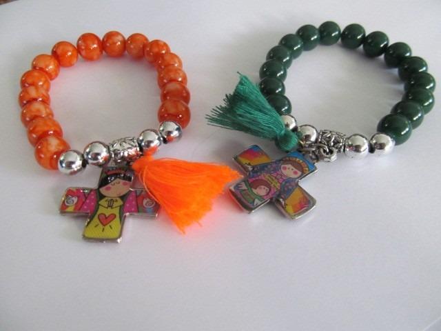 10 pulseras plis porfis xfis cuentas de vidrio 10mm