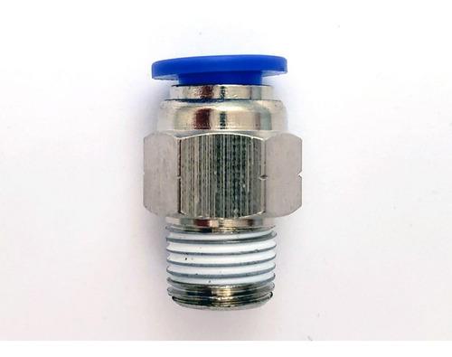 10 pz de conector/racor rápido neumático recto 1/8 npt x 1/4