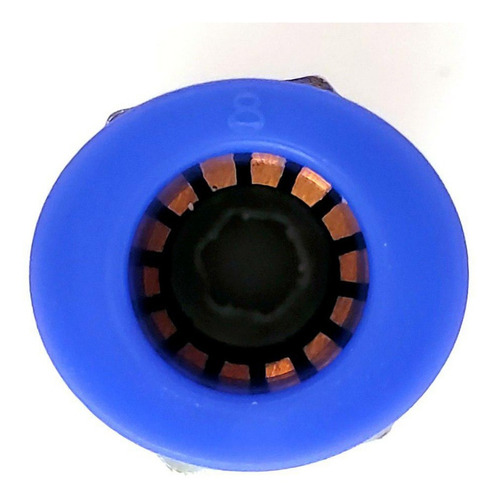 10 pz de conector/racor rápido neumático recto 1/8 npt x 8mm