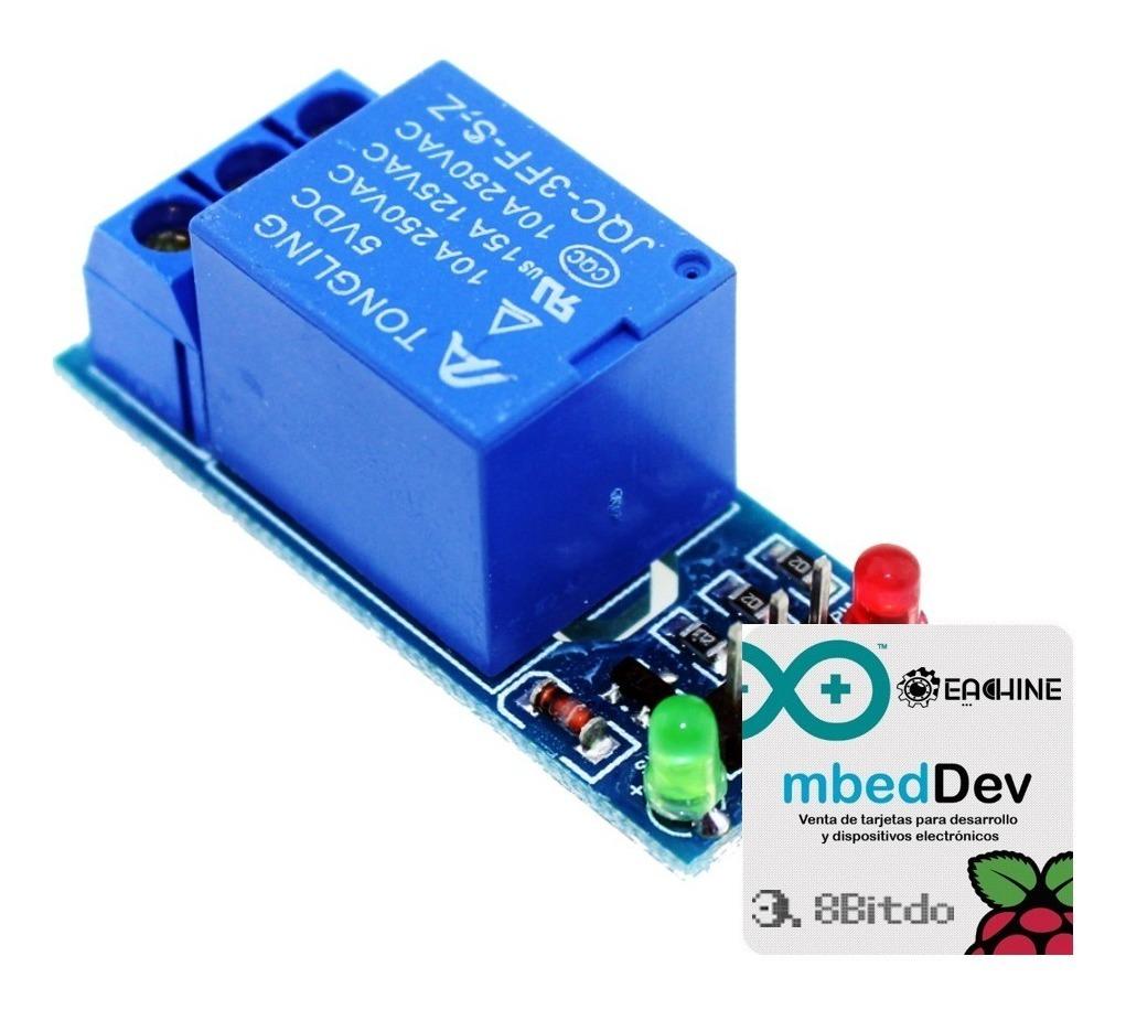 10 Pza Módulo Rele Relay 1 Canal Para Arduino Envio Incluido