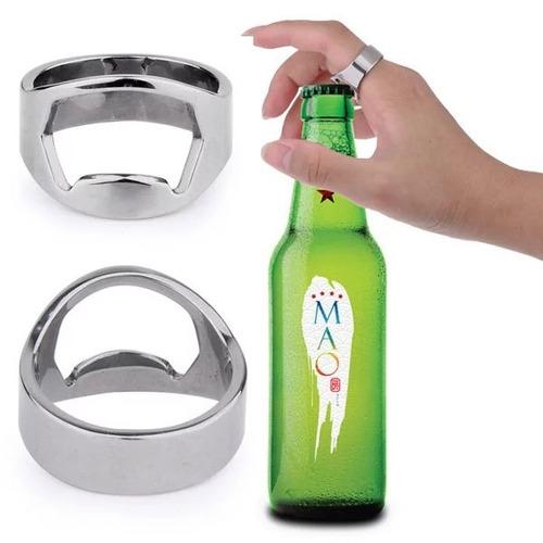 10 pzas anillo destapador acero inoxidable
