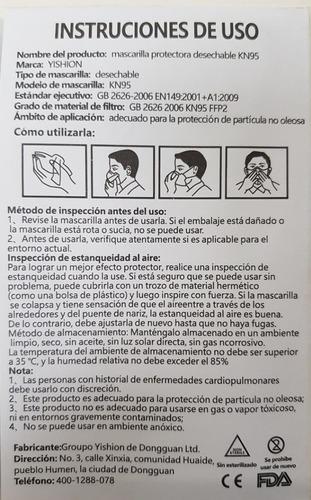 10 pzas kn95 n95 mascarilla respirador cubreboca  cubre boca