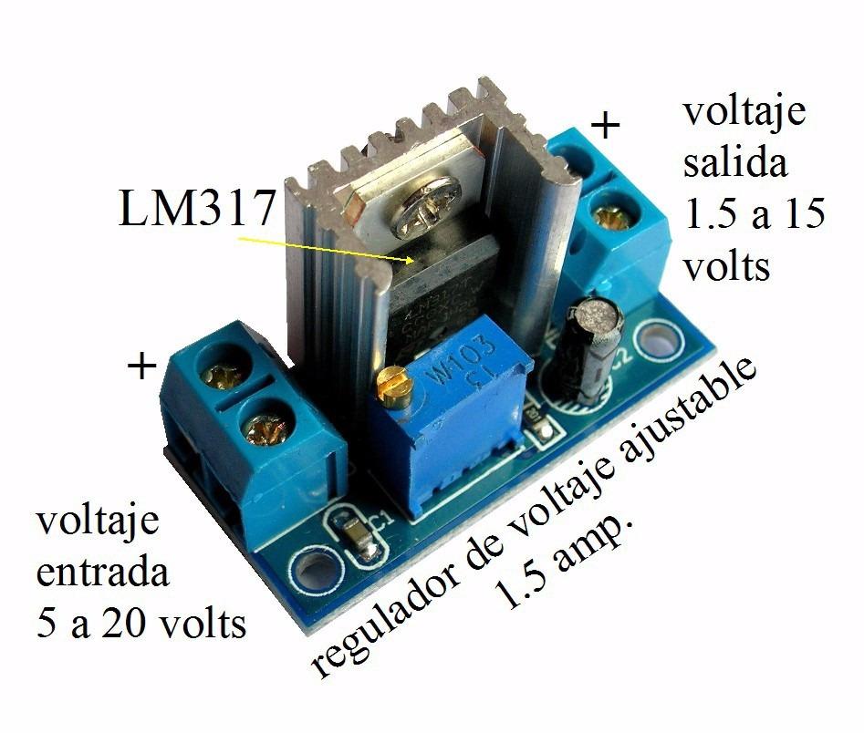 Circuito Regulador De Voltaje : Pzs regulador lm voltaje salida ajustable