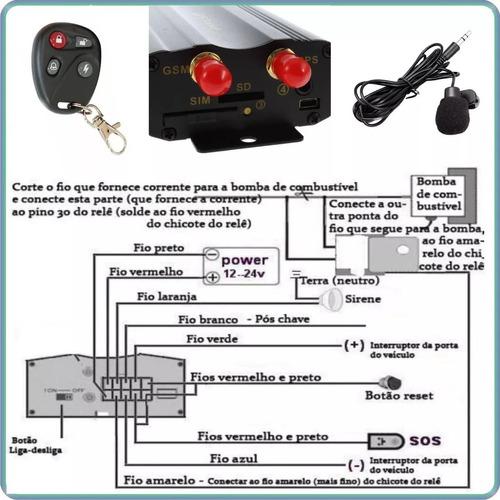 10 rastreador gps bloqueador veicular tk-103b coban