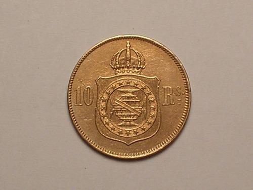 10 réis 1869 / rs. / bronze / cabeça / soberba+ / (08)
