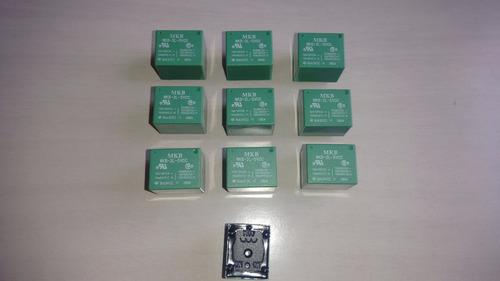 10 reles hasco mkb 3l 5vcc p/ circuito  - verde(rohs)
