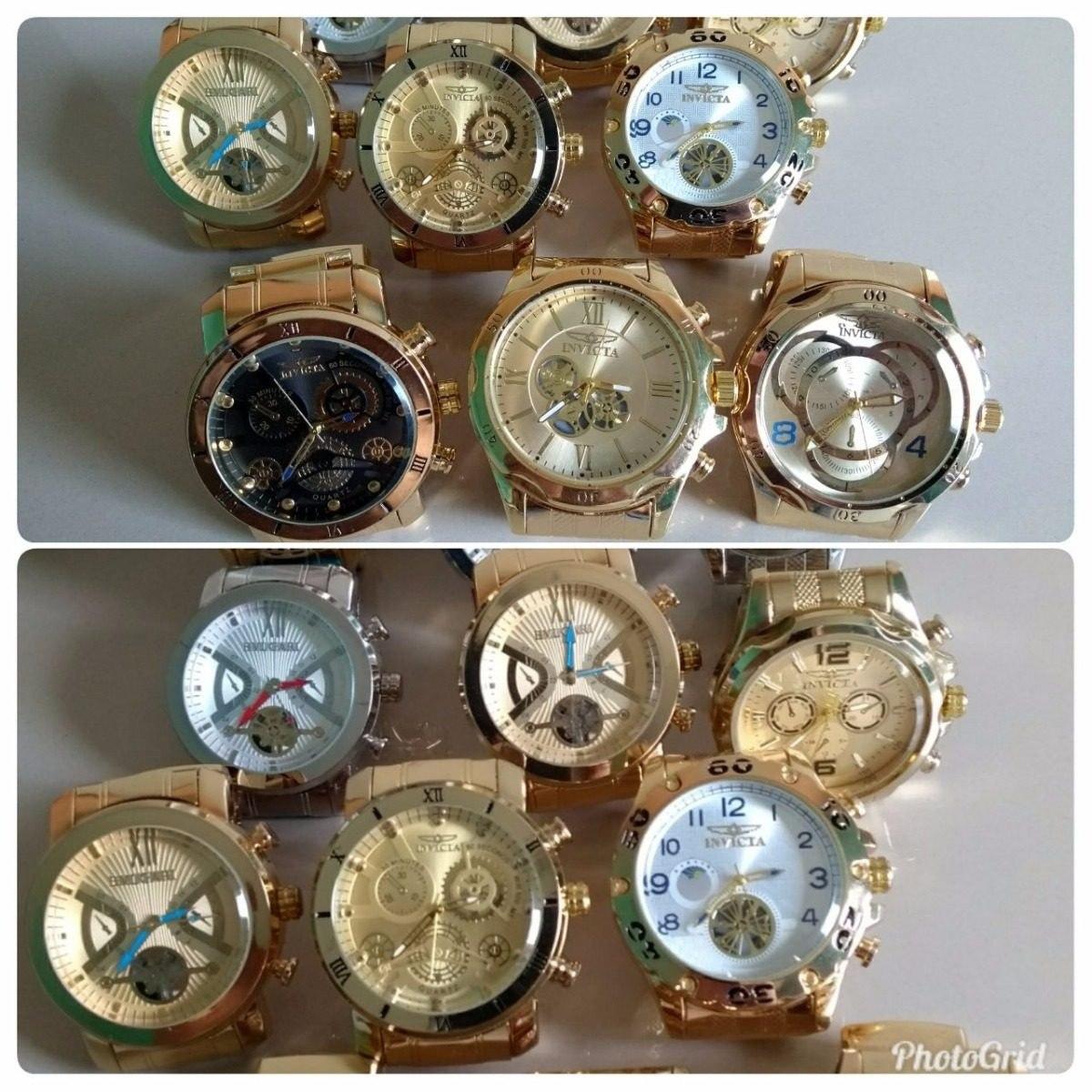 f764cbba56f 10 Relógios Pulseira Aço Masculino Atacado E Revenda Barato - R  194 ...