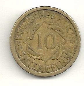 10 rentenpfennig - 1924 - letra a