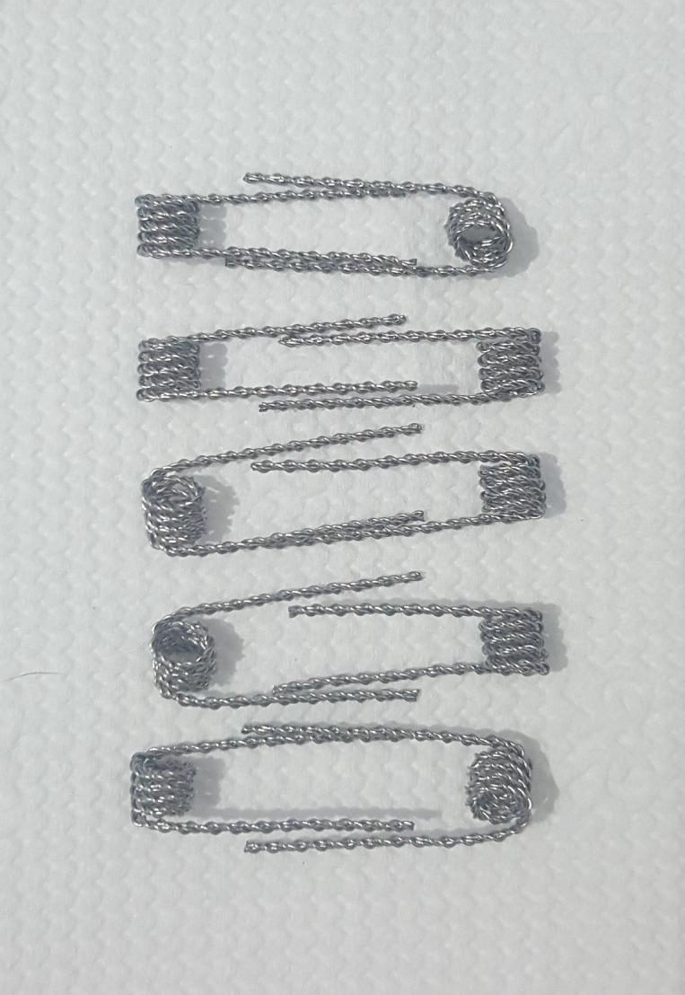 10 Resistências Coils Kanthal A1 0,6 Ohm Hive Wire + Algodão