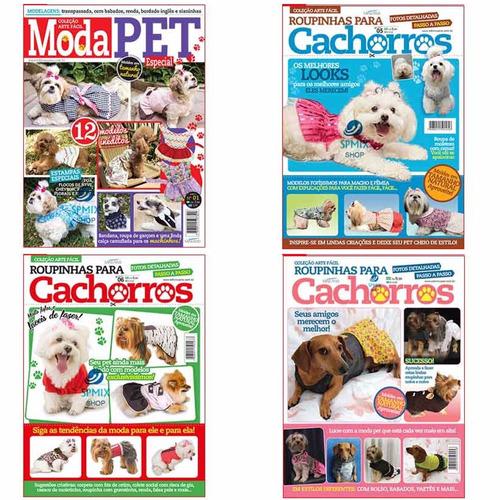 10 revistas moda pet roupa cachorro caes moldes costura