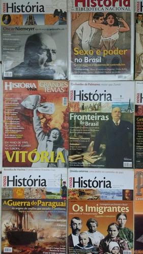 10 revistas nossa história viva piramides frete grátis