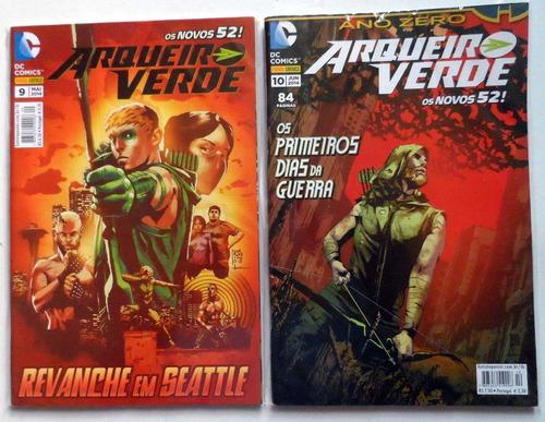 10 revistas panini os novos 52! arqueiro verde - 2013 / 2014