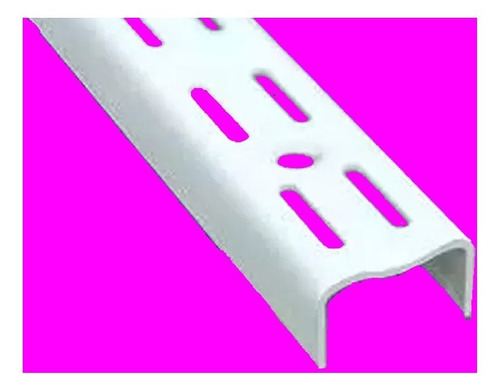 10 riel ménsula 1 metro blanco reforz para estanteria art 27