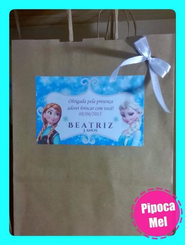 10-sacolas personalizadas (frozen,minions,peppa,e outros)