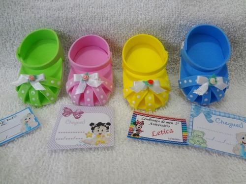 10 sandálias em eva-lembrancinha-nascimento-chá bebê-festa