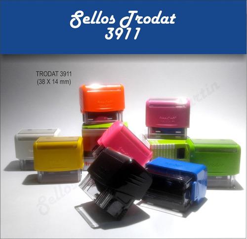 10 sellos automático trodat 3911 38x14 venta x mayor (shiny)