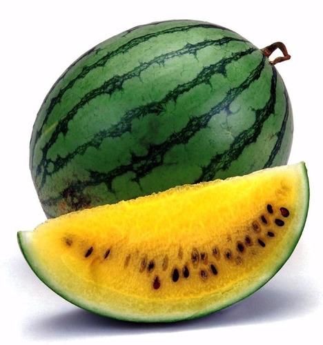 10 sementes de melancia amarela super doce