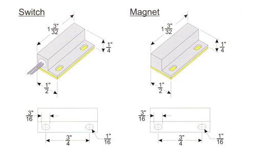 10 sensor magnético janela e porta com fio alarme duplaface