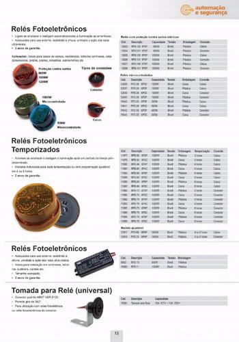10 sensor rele fotoelétrico fotocélula 800w c/base margirius