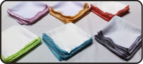 10 servilletas de tela personalizadas a todo color,