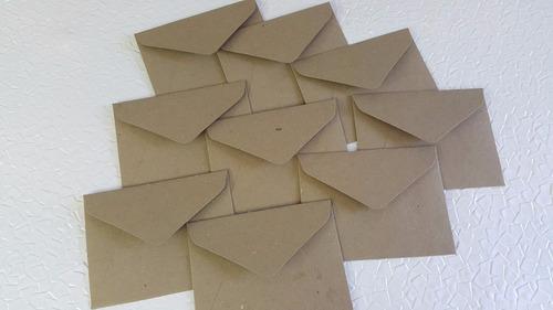 10 sobres kraft invitaciones cartulina 205 gr. 14.5x11.2 cm