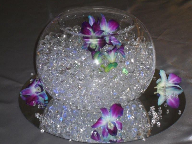 10 sobres perlas hidrogel recuerdos arreglos centros de - Cristales de colores para mesas ...