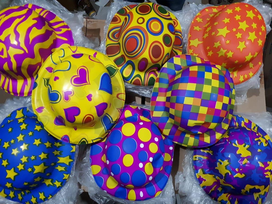 10 Sombrero Bombin Neon Plastico Fiesta Boda Evento Batuca -   34.90 ... 66ff1ea9bce