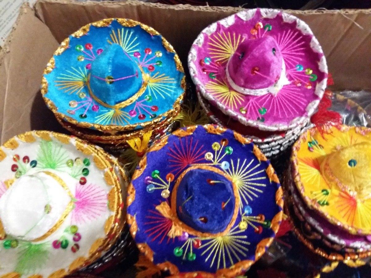 22824385319dc 10 sombrero charro miniatura adorno negro fiesta mexicana. Cargando zoom.