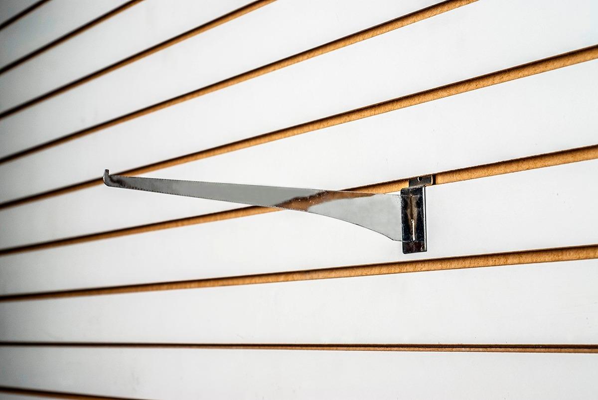 10 soporte para repisa metalico para panel ranurado 8 for Ganchos para repisas