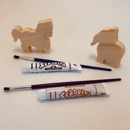 10 sorpresita p/ cumple animalito c/ pintura pincel souvenir