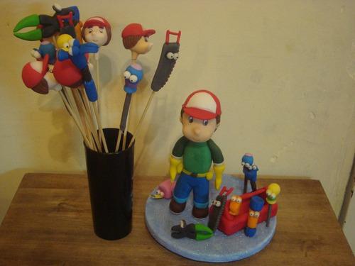10 souvenir brochet doctora juguete, manny a la obra