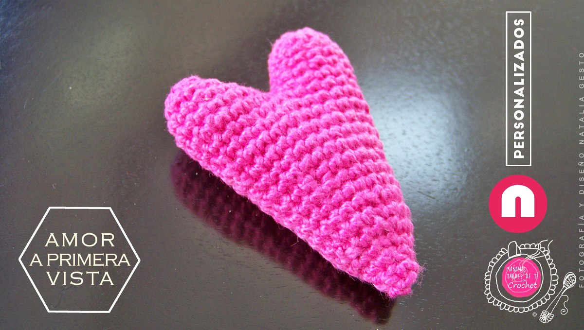 Amigurumi Llavero Corazon : Souvenir llavero corazón tejido d amigurumi colores