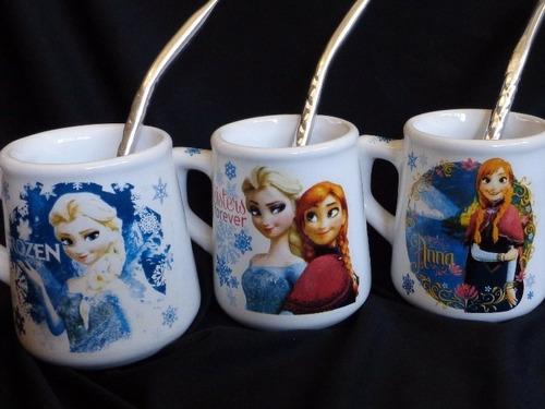 10 souvenirs mates personalizados tazas infantiles