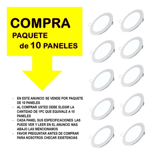 10 spot led 18w slim plafon panel focos luces casas oficina