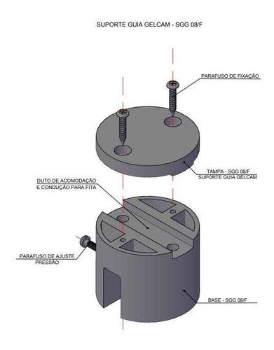 10 suportes guia gelcam para raio modelo sgg 08/f