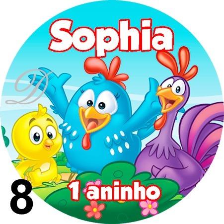 10 Tags Adesivos Personalizados Festa Galinha Pintadinha R 1 90