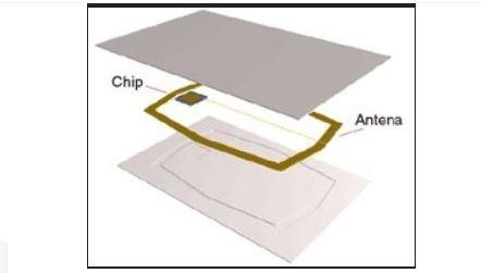 10 tarjeta rfid clamshell de 125 khz. modelo rfid-0.8mm vv4