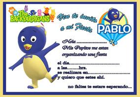 10 Tarjetas De Cumpleaños Invitaciones Backardigans Pocoyo